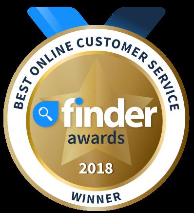 Finder Awards 2018 - Best online customer service winner