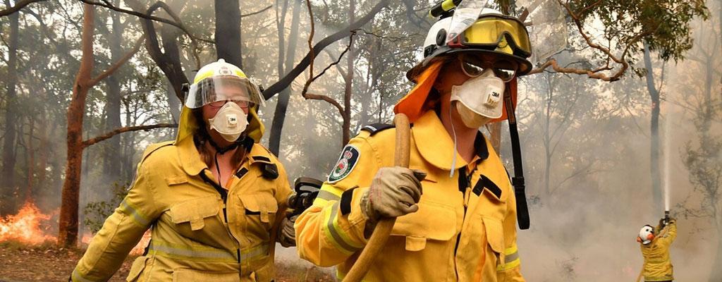 bushfire firefighters